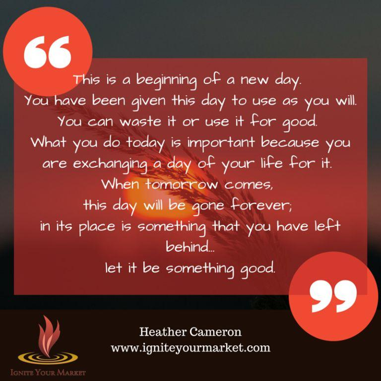 Essence of A New Day - Quote