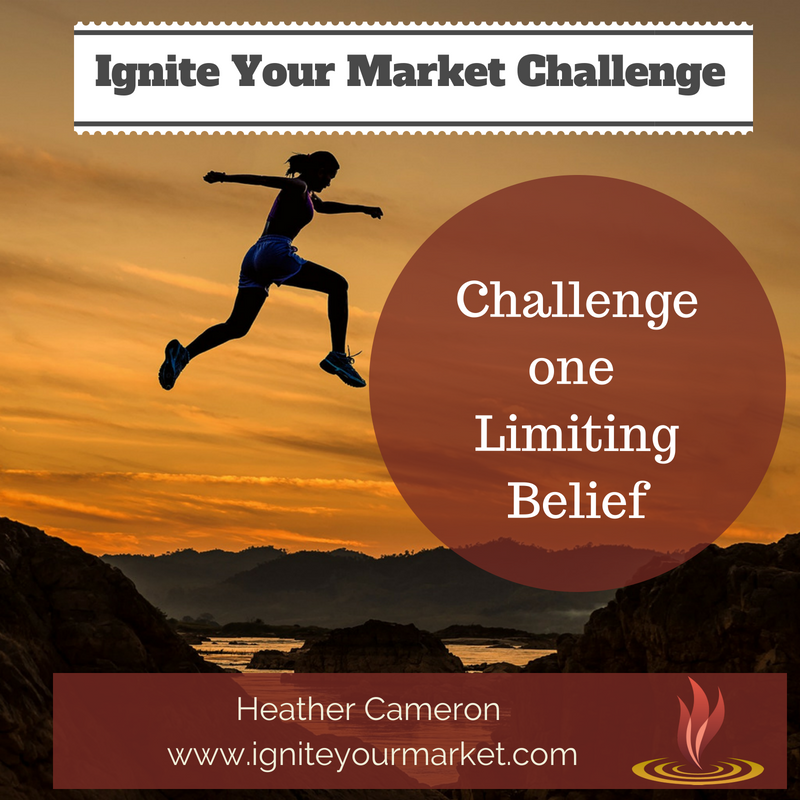 This Week's Ignite Your Market Challenge: Challenge One of Your Limiting Beliefs