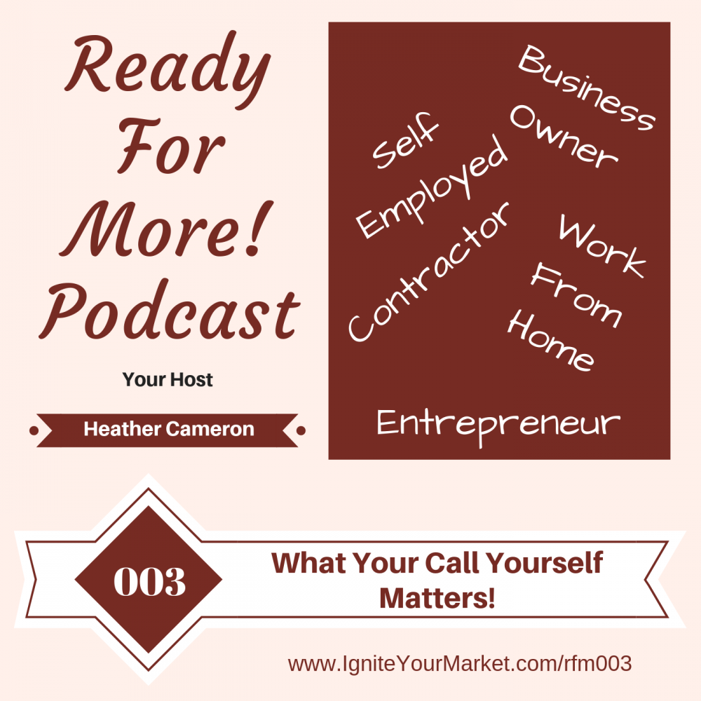 What You Call Yourself Matters – RFM003