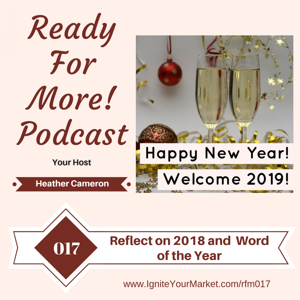 Reflect on 2018 and Your Word of the Year – RFM017