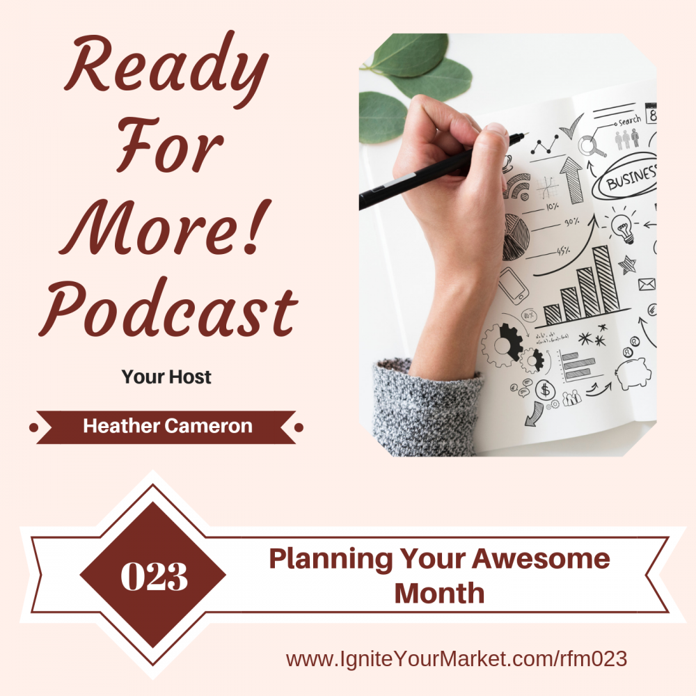 Planning Your Awesome Month – RFM023