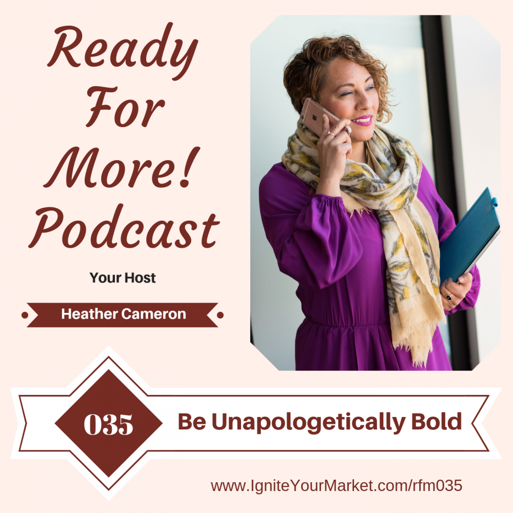 Be Unapologetically Bold -RFM035