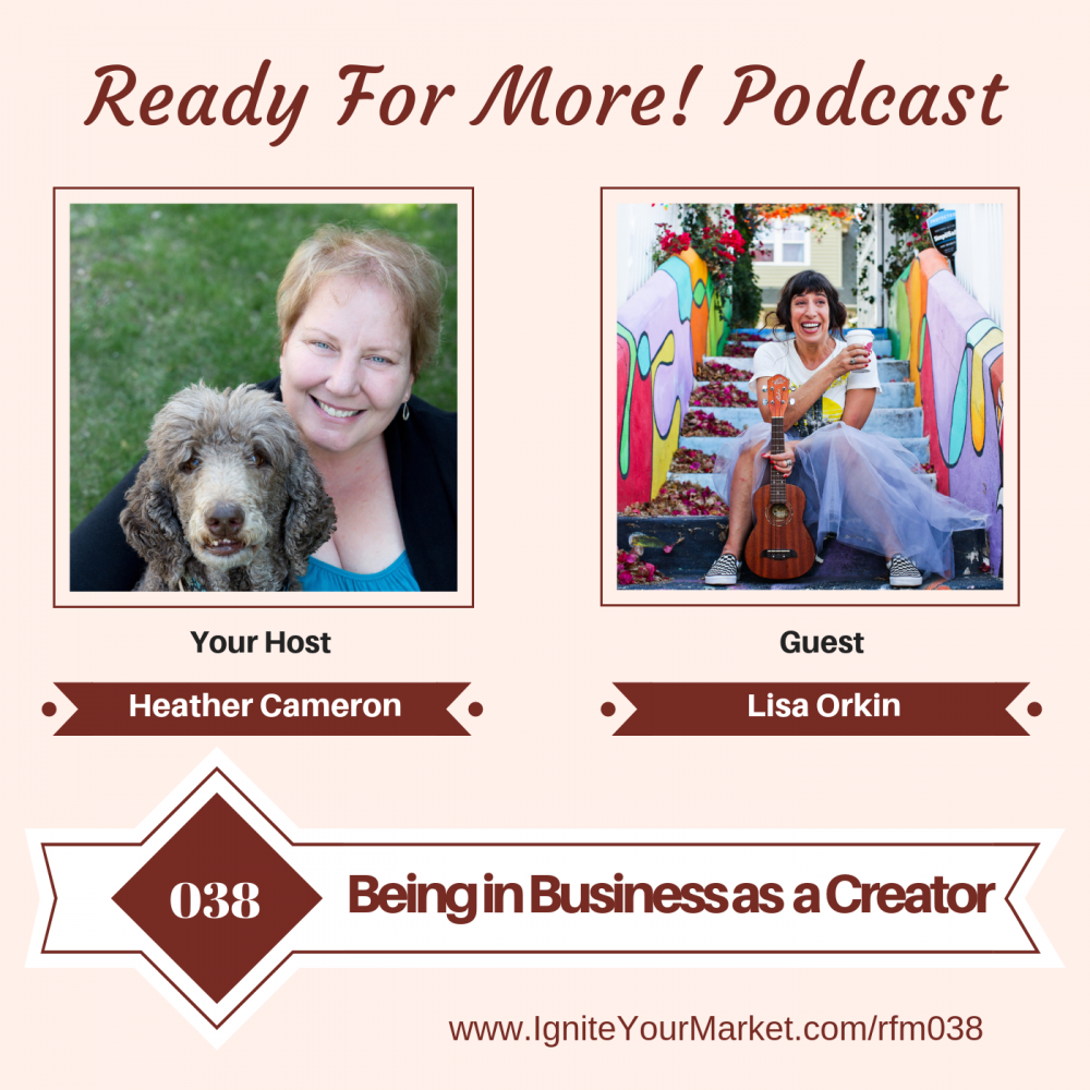 Being in Business as a Creator – Lisa Orkin – RFM038